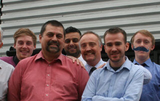 CLM team grow moustaches for Movember chartity