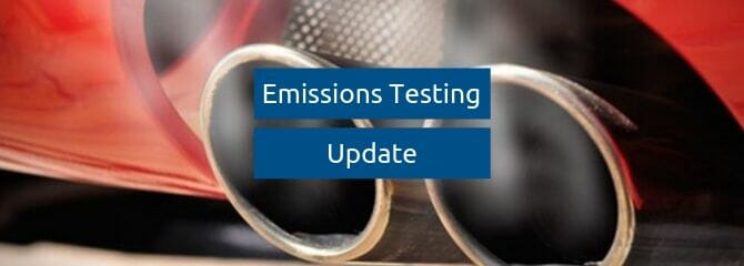 emissions testing update