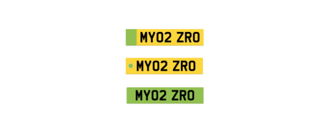 possible green number plate designs