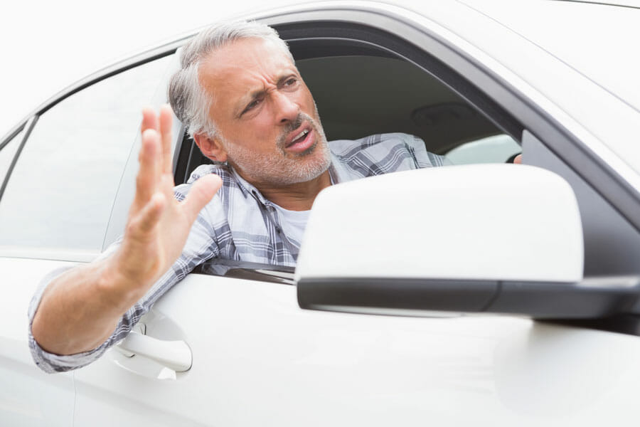 driver experiencing road rage