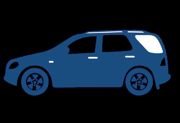 SUV blue